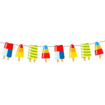"""Guirlande de fanions """"Summer Party"""" 10 m"""