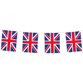 """Guirlande de fanions """"Union Jack"""" Royaume-Uni 10 m"""