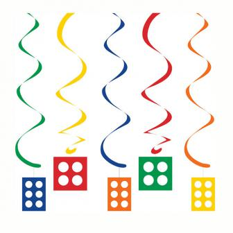 """Suspensions à spirales """"Briques colorées"""" 5 pcs."""