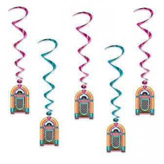 "5 suspensions à spirales ""Jukebox"" 1 m"