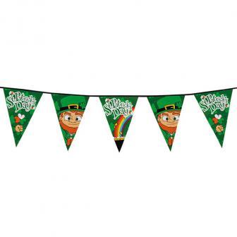 """Guirlande de fanions XL """"Heureuse St. Patrick's Day"""" 8 m"""