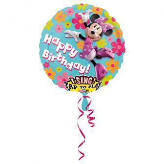 "Ballon musical en alu XL ""Minnie Mouse"" 71 cm"