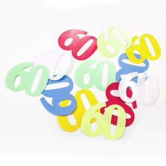 """Confettis XXL """"60 ans multicolores"""" 12 pcs."""