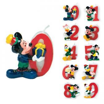 "Bougie chiffre ""Mickey et Cie"" 5 cm"