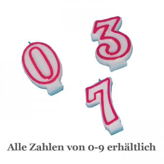 Bougie chiffre pour anniversaire - 5