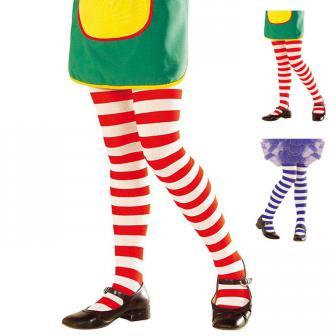 Collants bicolores rayés pour enfant