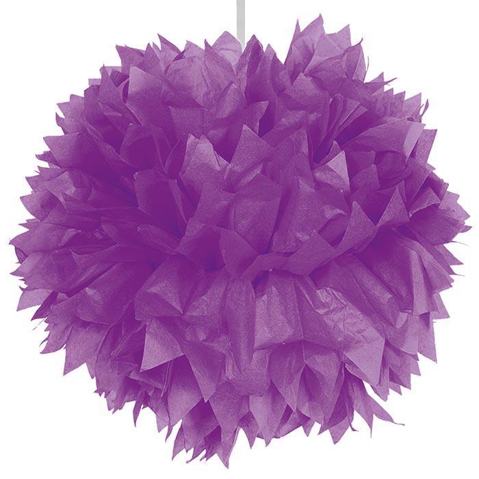 d co de plafond pompon en papier cr pon 30 cm lilas prix minis sur. Black Bedroom Furniture Sets. Home Design Ideas