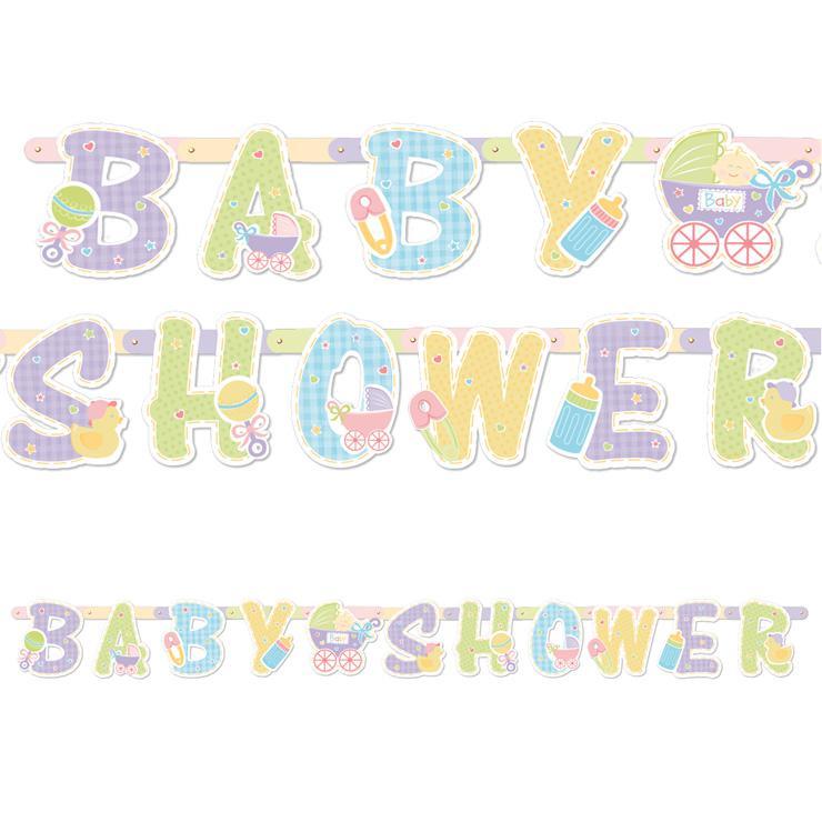 Guirlande de lettres baby shower 210 cm prix minis sur - Guirlande baby shower ...
