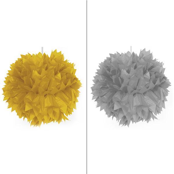 D co de plafond pompon glamour en papier cr pon 30 cm - Pompon en papier crepon ...