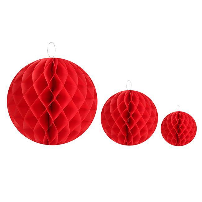 2 balles unicolores en papier gaufr rouge 20 cm prix for Prix poisson rouge 20 cm