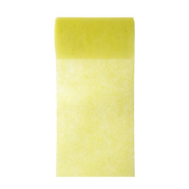 chemin de table intiss unicolore 10 m jaune prix minis sur. Black Bedroom Furniture Sets. Home Design Ideas