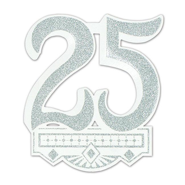 D co de salle jubil anniversaire 25 35 cm prix minis sur - Noce de 8 ans ...