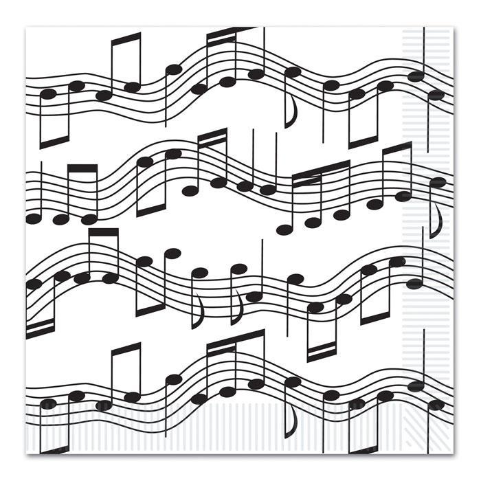 16 serviettes en papier notes de musique 32 7 cm prix. Black Bedroom Furniture Sets. Home Design Ideas