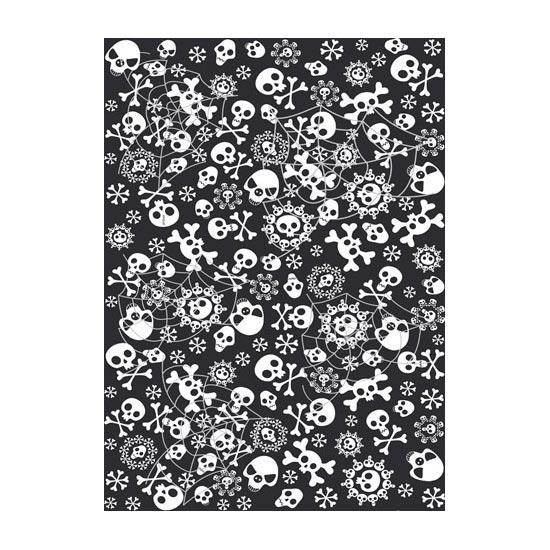 Nappe T/êtes de mort Pluie de squelettes 180 cm