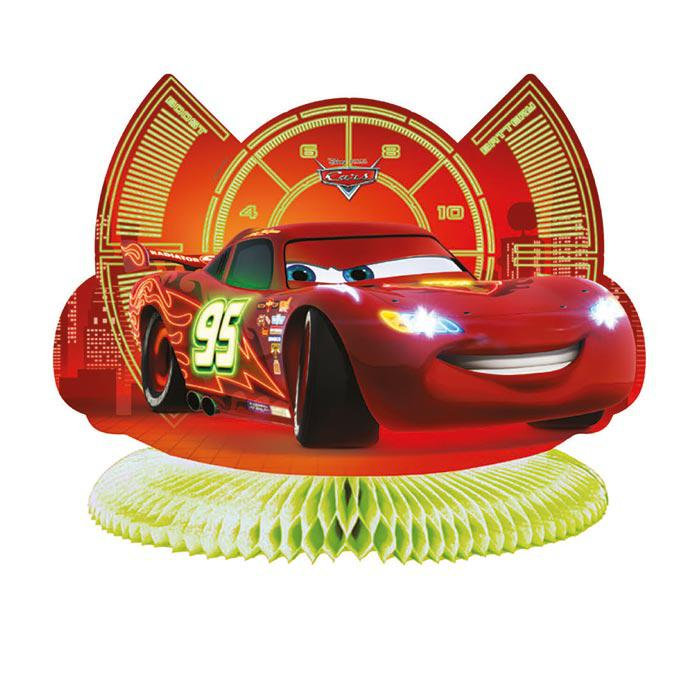 d co de table disney cars neon city 29 cm prix minis sur. Black Bedroom Furniture Sets. Home Design Ideas
