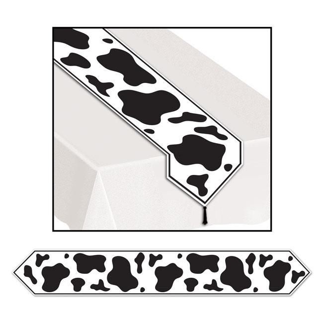 Chemin de table motif vache 180 cm prix minis sur for Chemin de table 180 cm