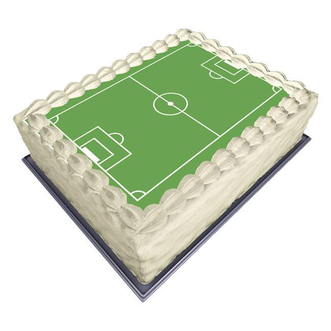 """disque pour gâteau """"terrain de foot"""" 30 cm à prix minis sur"""