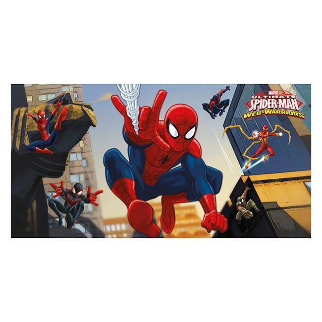 d co murale spider man web warriors 77 x 150 cm prix. Black Bedroom Furniture Sets. Home Design Ideas