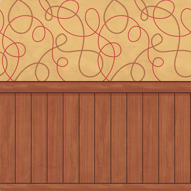 D co murale western tapis et bois 1 2 x 12 1 m prix for Decoration murale western