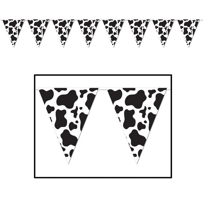 Guirlande de fanions motif vache 3 7 m prix minis sur for Guirlande fanion exterieur
