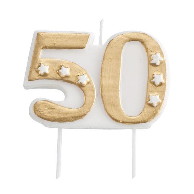 Bougie chiffres 50 ans avec support 7 cm prix minis for Robes pour la 50e anniversaire de mariage