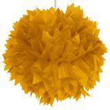 """Déco de plafond """"Pompon glamour en papier crépon"""" 30 cm - or"""