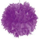 """Déco de plafond """"Pompon en papier crépon"""" 30 cm - lilas"""
