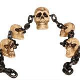 """Guirlande 3D """"Chaîne de crânes"""" 235 cm"""