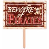 """Panneau 3D """"Beware of Pirates"""" 48 cm"""