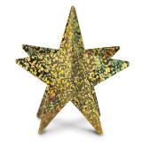 Étoile 3D en carton scintillant 30 cm - doré