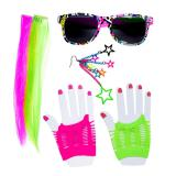 "Set d´accessoires ""80ies Party Girl"" 6-pcs."