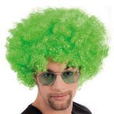Perruque afro - vert fluo
