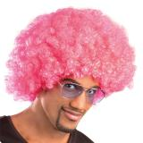 Perruque afro - rose