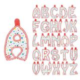 Lettres gonflables avec étoiles colorées 35 cm