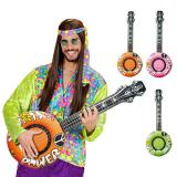 """Guitare gonflable """"Flower Power"""" 100 cm"""