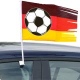 """Drapeau pour voiture avec ballon de foot """"Allemagne"""" 45 cm"""