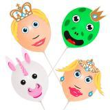 """Ballons à décorer """"Monde féerique"""" 18 pcs."""