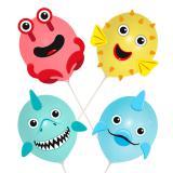 """Ballons à décorer """"Créatures sous-marines"""" 18 pcs."""