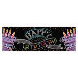 """Bannière """"Craies colorées"""" Happy Birthday 152 cm"""