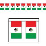 """Guirlande de drapeaux """"Mexique"""" 18,3 m"""