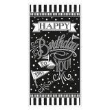 """Bannière """"Tableau noir et blanc"""" 85 x 165 cm"""
