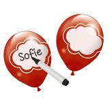 6 ballons de baudruche personnalisables