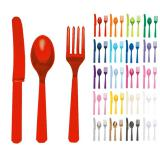 Set de couverts unicolores 24 pcs