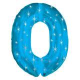 "Ballon en alu bleu ""Anniversaire étoilé"" 96,5 cm - 0"