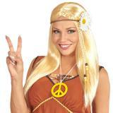 "Perruque blonde ""Flower Power"""