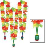 """Collier de fleurs """"Fiesta à Mexico"""" avec maracas 91 cm"""