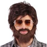 """Perruque avec barbe """"Années 70"""" - marron"""