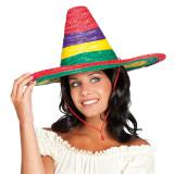 "Sombrero à rayures colorées ""Mexicana"""