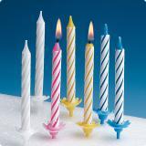 Bougies d'anniversaire avec supports 36 pcs