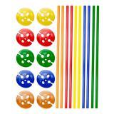 10 tiges multicolores pour ballon de baudruche avec embouts